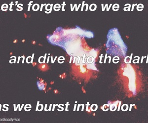 aesthetic, color, and Lyrics image