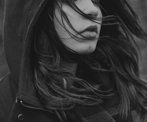 autumn, black and white, and face image