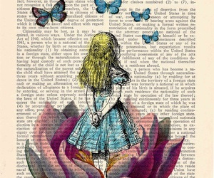 book, alice, and alice in wonderland image