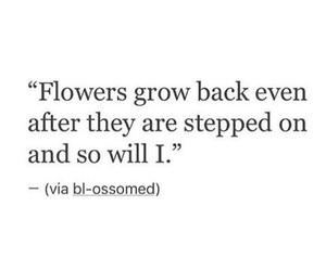 quotes, flowers, and black and white image
