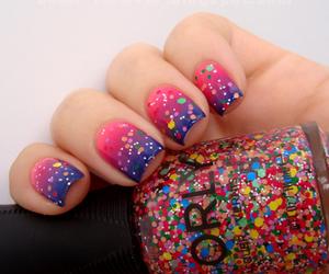 girl, glitters, and nail polish image