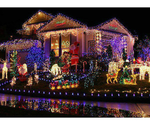 christmas, light, and house image