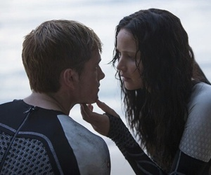 katniss everdeen, catching fire, and peeta mellark image