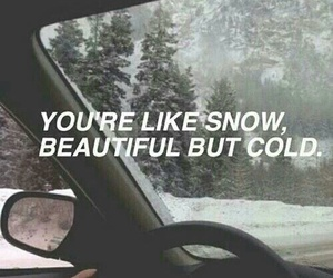 snow, quotes, and cold image
