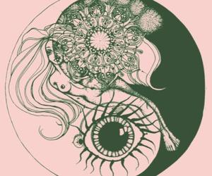 art, eye, and yin yang image