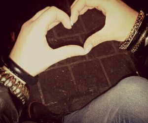 hand, heart, and friends image