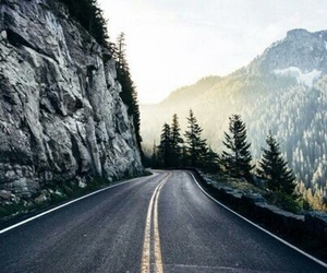 road, mountains, and nature image