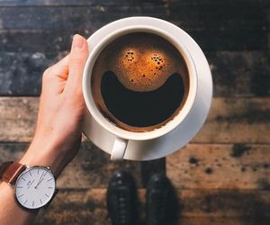 coffee, smile, and watch image