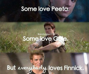 gale, finnick, and peeta image