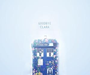 doctor who, clara, and tardis image