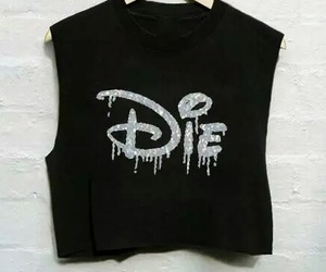 die, black, and disney image