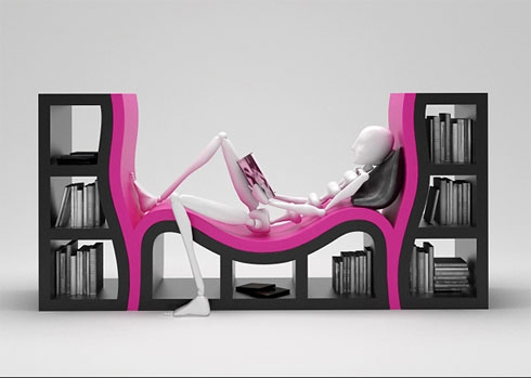 book, bookshelf, and pink image
