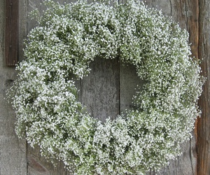 flowers, baby's breath, and christmas image