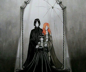 severus snape, lily potter, and mirror of erised image