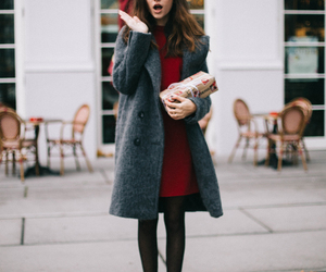 dress, autumn, and fashion image
