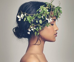 girl, beauty, and nature image