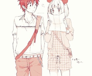 anime, ao no exorcist, and couple image