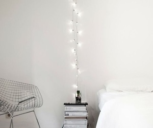 bedroom, white, and light image