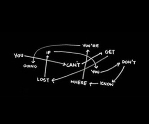 lost, black, and quotes image