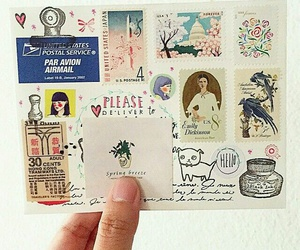 mail and stamps image