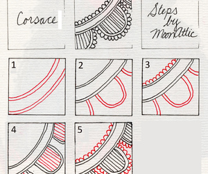 tangle, zentangle, and freehand doodle pattern image