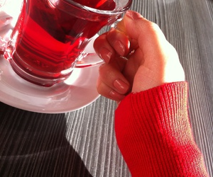 cold, nails, and tea image
