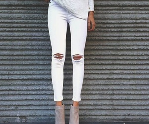 boots, nude boots, and sweater image