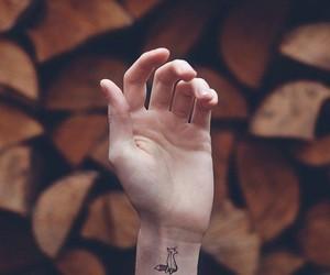 tattoo, fox, and hand image