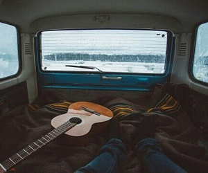 guitar, travel, and music image