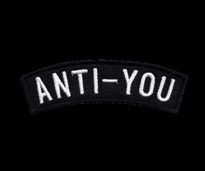 black, grunge, and anti-you image