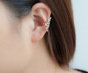 earrings, ear cuff, and fashion image