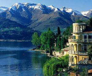 italy, lake, and mountains image