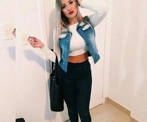 closet, denim jacket, and girl image