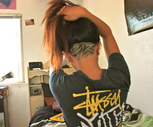hair, swag, and undercut image