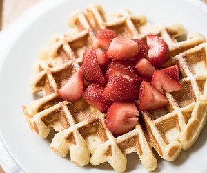strawberry, yum, and food image