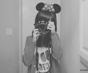 girl, camera, and minnie image