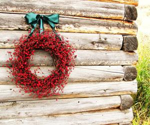 christmas, holiday, and wreath image