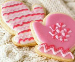 Cookies, pink, and christmas image