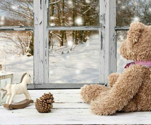 festive, girly, and teddy image