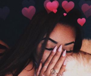 girl, nails, and hearts image