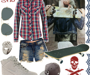 blade, jean shorts, and outfit image