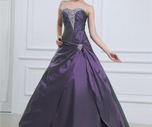 dress, fashion, and ball gown image