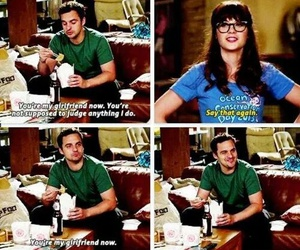 new girl, girlfriend, and nick miller image