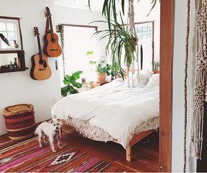 bed, dog, and fringe image