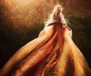 blonde, dress, and fantasy image