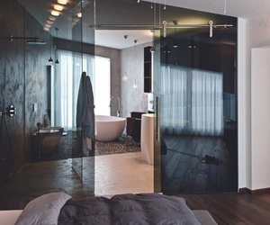 bedroom, bathroom, and luxury image