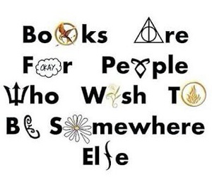 books, harry potter, and percy jackson image