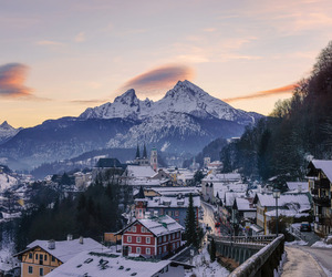 germany, Houses, and mountains image