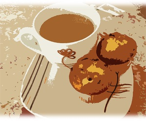 art, delicious, and coffee image