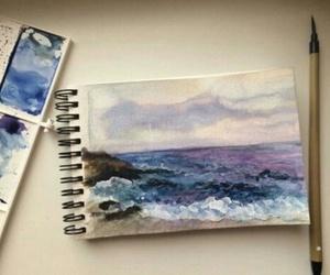 art, draw, and sea image
